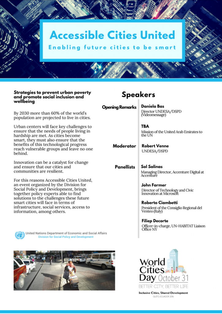 Flyer for Accessible Cities United